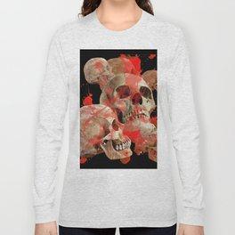 MACABRE BLOOD & SKULLS BLACK  ART Long Sleeve T-shirt