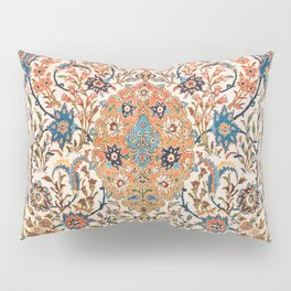 Isfahan Antique Central Persian Carpet Print Pillow Sham