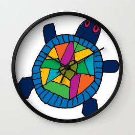 Multi Color Turtles Wall Clock