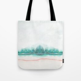 blue and green Tote Bag