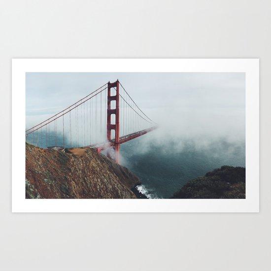 Floating Bridge Art Print