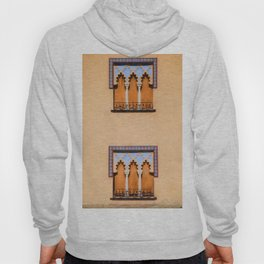 Dueling Windows of the Medieval Village of Cordoba Spain Hoody