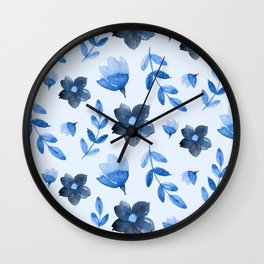Watercolour Floral Pattern V Wall Clock