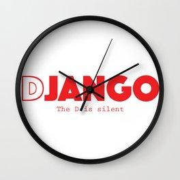 Django Livre - The D is Silent Wall Clock