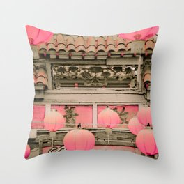 Los Angeles Chinatown Sign Throw Pillow