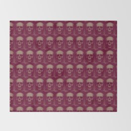 Specter and Spook's Skull Menagerie- Dusty Rose Throw Blanket