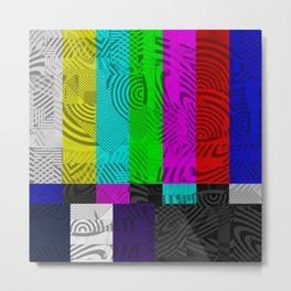 Do Not Adjust Your Television Metal Print