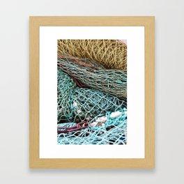 FISHING NET Framed Art Print