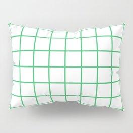 Grid Pattern Green Pillow Sham