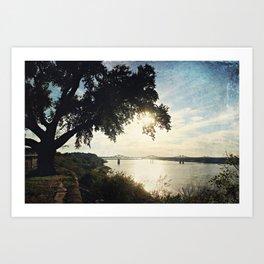 Mississippi River at Natchez Art Print
