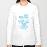 ramen Long Sleeve T-shirts featuring Ramen Set by Design Made in Japan