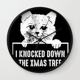 Christmas tree overturned Wall Clock