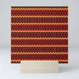 Lightning Arrows (Yellow/Red) pattern Mini Art Print