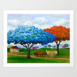 Flamboyán Azul Art Print