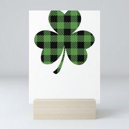 St. Patrick's Day Buffalo Shamrock Mini Art Print