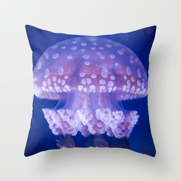 Jellyfish Mushroom Bloom - Photography Throw Pillow