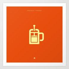 Coffee: The French Press Art Print