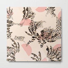 Jungle Sunset Abstraction / Boho Texture Metal Print