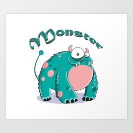funny monster  Art Print