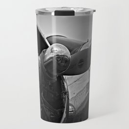 Black and White vintage airplane Travel Mug