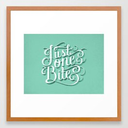 Just One Bite Framed Art Print