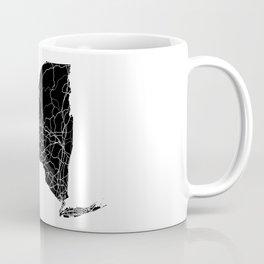 New York Black Map Coffee Mug