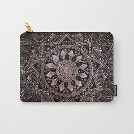 Elegant rose gold mandala dots and marble artwork Carry-All Pouch