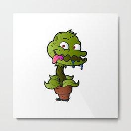 Carnivorous plant. Metal Print