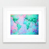 wanderlust Framed Art Prints featuring Wanderlust by ALLY COXON