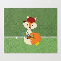 Tennis fox Canvas Print
