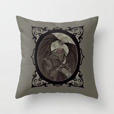 Mothman's Teatime Throw Pillow