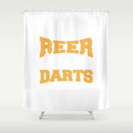 Dart Beer Gift Beer Lover Darts Player Shower Curtain
