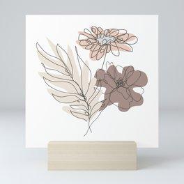 Poppy and Chamomile Mini Art Print
