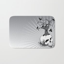 Skull and Tree Bath Mat