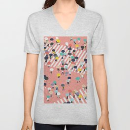Crossing The Street On a Rainy Day Unisex V-Neck