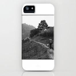 Coal Loader on His Way Home After Work iPhone Case