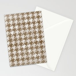 Moose Houndstooth Stationery Cards