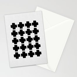 Black and White Abstract III Stationery Cards