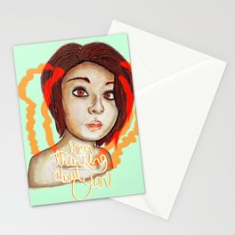 i´m thinking about you Stationery Cards