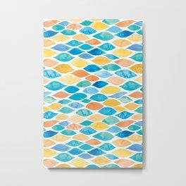 Watercolour Ocean | Desert Palette Metal Print