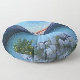 Mountains lake Floor Pillow