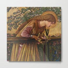 "Edward Burne-Jones ""The Blessed Damozel"" Metal Print"