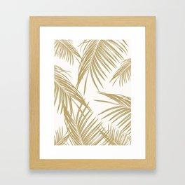 Gold Palm Leaves Dream #1 #tropical #decor #art #society6 Framed Art Print