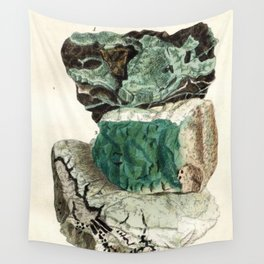 Vintage Mineralogy Illustration Wall Tapestry