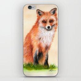 Fox In Watercolour iPhone Skin