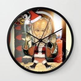 COLLAGE: Santa Claus Wall Clock