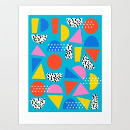Airhead - memphis retro throwback minimal geometric colorful pattern 80s style 1980's Art Print
