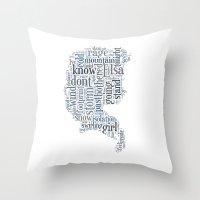 elsa Throw Pillows featuring Elsa  by MollyW
