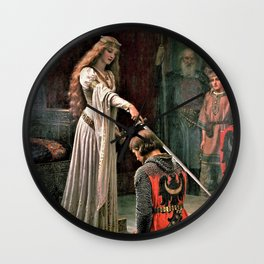 Edmund Blair Leighton - Accolade - Edmund Blair Leighton Wall Clock
