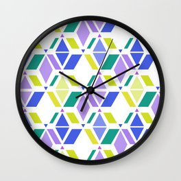 Fresh , retro , abstract , geometric Wall Clock